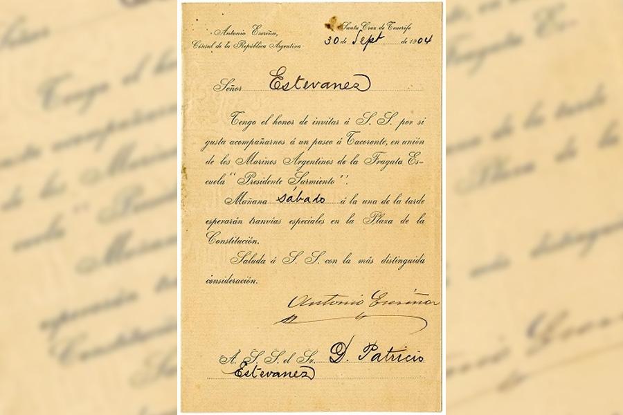 Invitación a una excursión a Tacoronte en compañía de los Marinos Argentinos de la Fragata Escuela «Presidente Sarmiento»