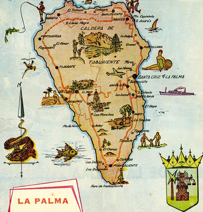 Mapa antiguo de La Palma
