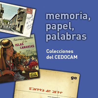 Memoria, papel, palabras. Colecciones del CEDOCAM