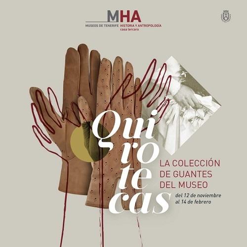 """Cartel de la exposición """"Quirotecas"""""""
