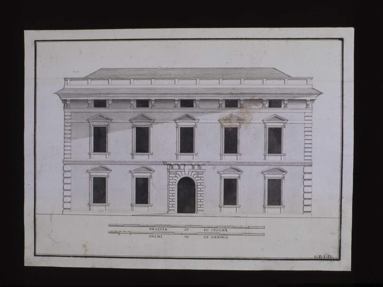 Dibujo fachada Lercaro