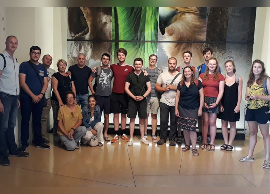 Estudiantes de Geociencias de Edimburgo visitan el MUNA
