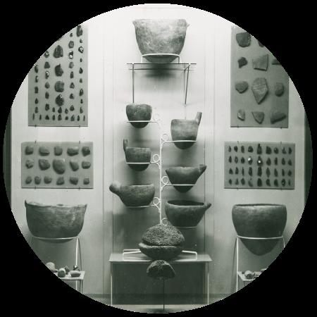 Parte de la colección fundacional del Museo Arqueológico