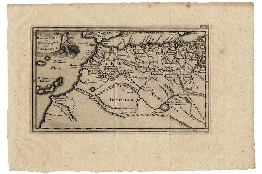 La imagen muestra el noreste de África, así como los territorios de Marruecos, Argelia, Túnez y zonas limítrofes.