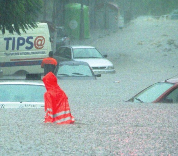 Inundación provocada por lluvias torrenciales