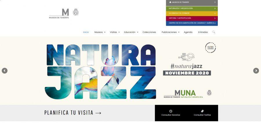 Captura de pantalla de la nueva web