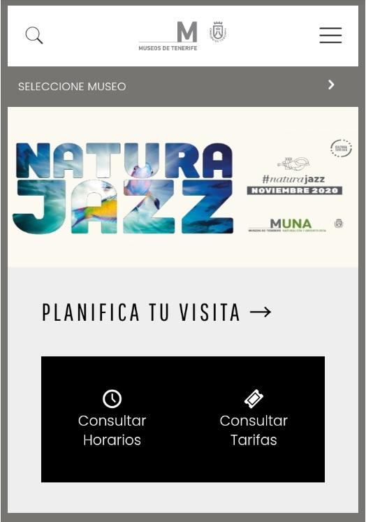 Captura de pantalla nueva web, versión móvil