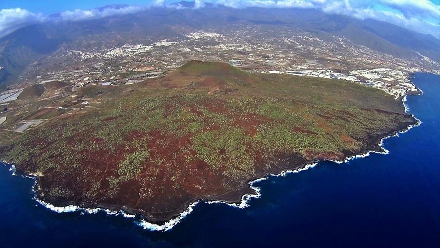 Vista aérea de la costa de Tenerife
