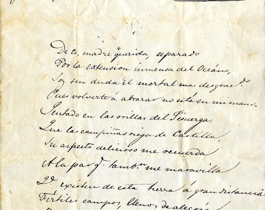 Poema madre Nicolás Estévanez 1