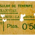 Billete antiguo tranvía