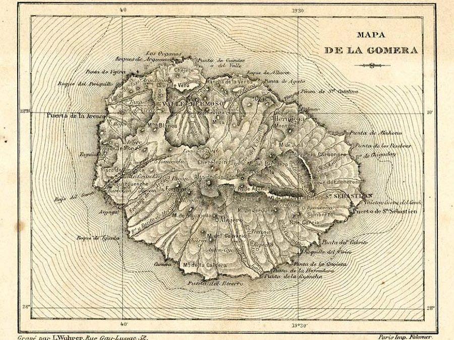 Mapa Gomera
